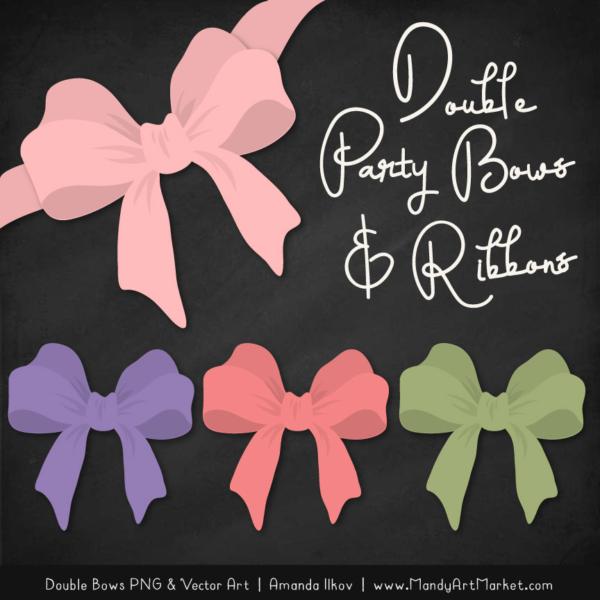 Free Wildflowers Party Bow Clipart