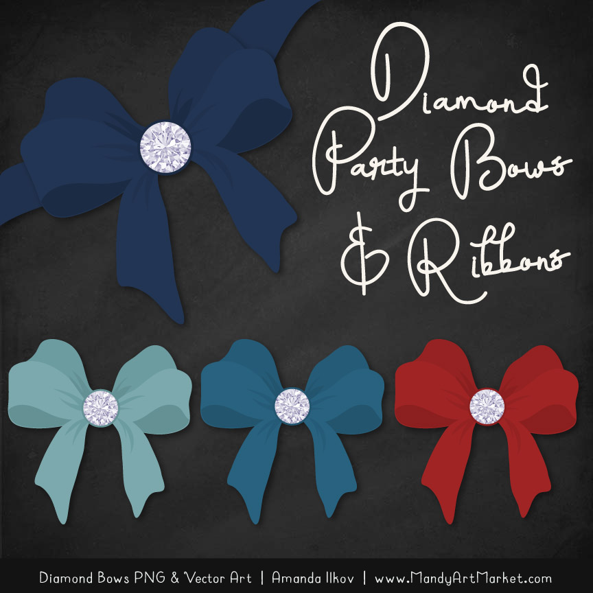 Americana Diamond Bow Clipart