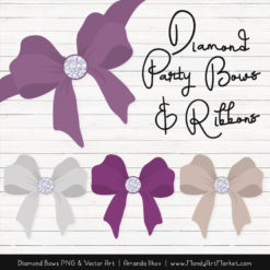 Amethyst Diamond Bow Clipart