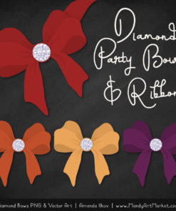 Autumn Diamond Bow Clipart