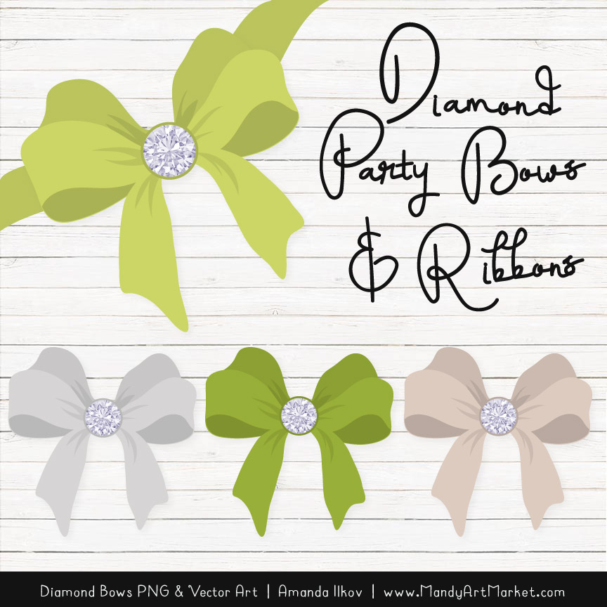 Bamboo Diamond Bow Clipart