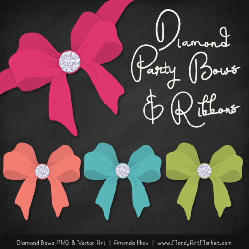 Bohemian Diamond Bow Clipart