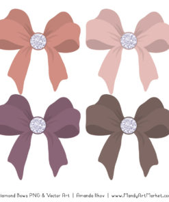 Buff Diamond Bow Clipart