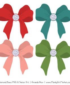 Cherry Bomb Diamond Bow Clipart