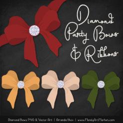 Christmas Diamond Bow Clipart