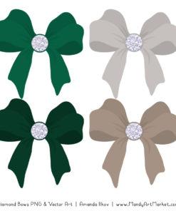 Emerald Diamond Bow Clipart