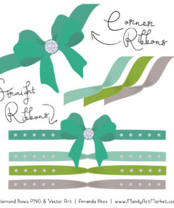 Emerald Isle Diamond Bow Clipart