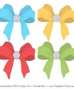 Fresh Boy Diamond Bow Clipart