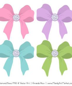 Fresh Girl Diamond Bow Clipart