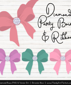Garden Party Diamond Bow Clipart