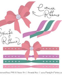 Garden Party Diamond Bow Clipart
