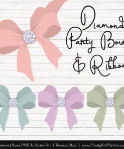 Grandmas Garden Diamond Bow Clipart