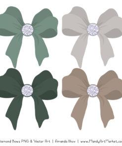 Hemlock Diamond Bow Clipart