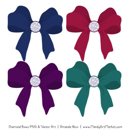 Jewel Diamond Bow Clipart