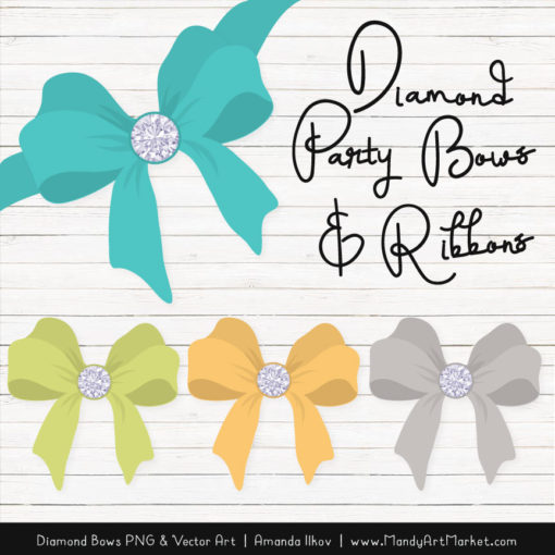 Land & Sea Diamond Bow Clipart