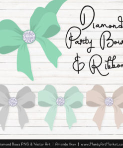 Mint Diamond Bow Clipart