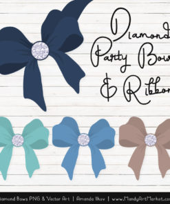 Oceana Diamond Bow Clipart