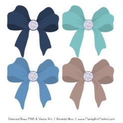 Oceana Diamond Bow Clipart