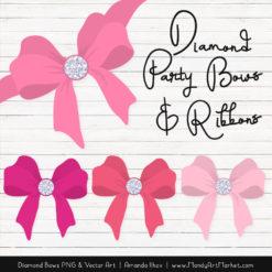 Pink Diamond Bow Clipart