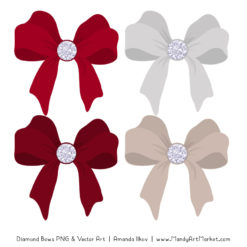 Ruby Diamond Bow Clipart