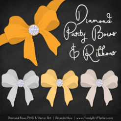 Sunshine Diamond Bow Clipart