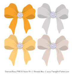 Sunshine Diamond Bow Clipart