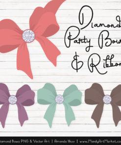 Vintage Girl Diamond Bow Clipart