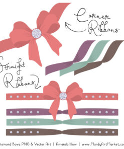 Vintage Girl Diamond Bow Clipart