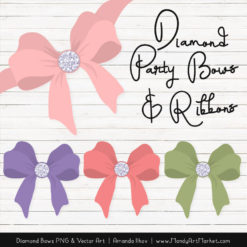 Wildflowers Diamond Bow Clipart