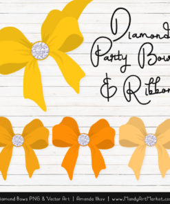 Yellow Diamond Bow Clipart