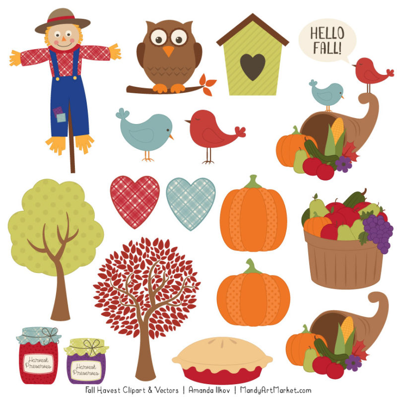 Free Autumn Clipart is Recycled But Still Fun - Mandy Art ...