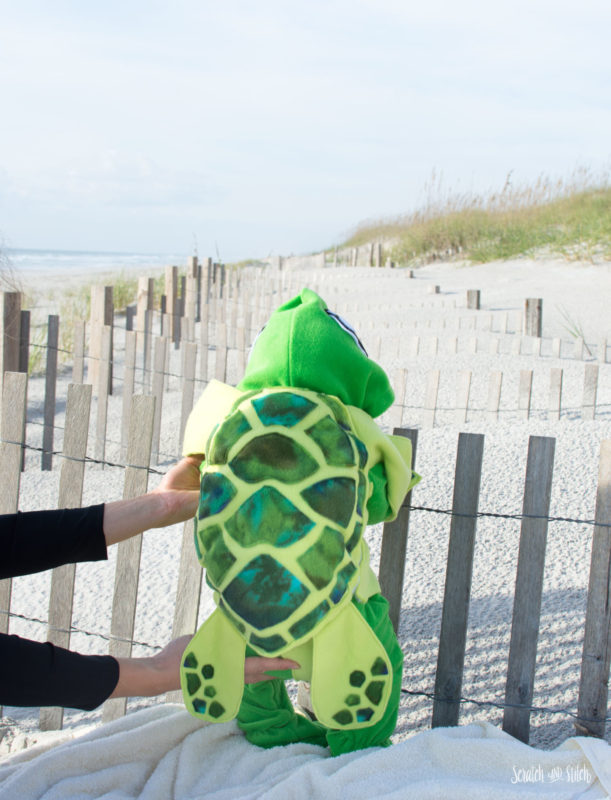 Make a Sea Turtle Baby Costume 2