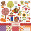 Free Fall Harvest Clipart & Paper Set