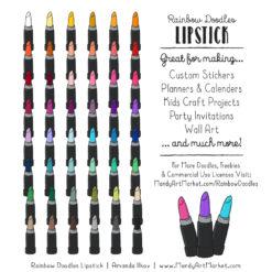 Rainbow Lipstick Clipart