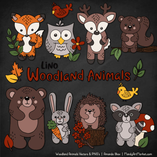 Natural Woodland Animal Clipart