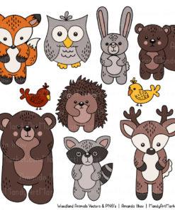 Natural Free Woodland Animal Clipart 3