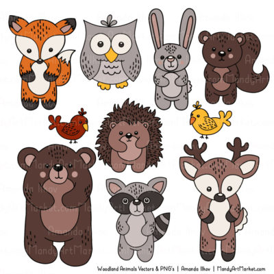 Natural Free Woodland Animal Clipart 3