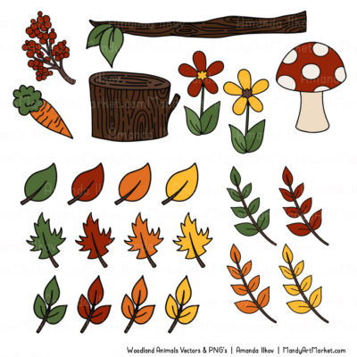 Natural Free Woodland Animal Clipart 2