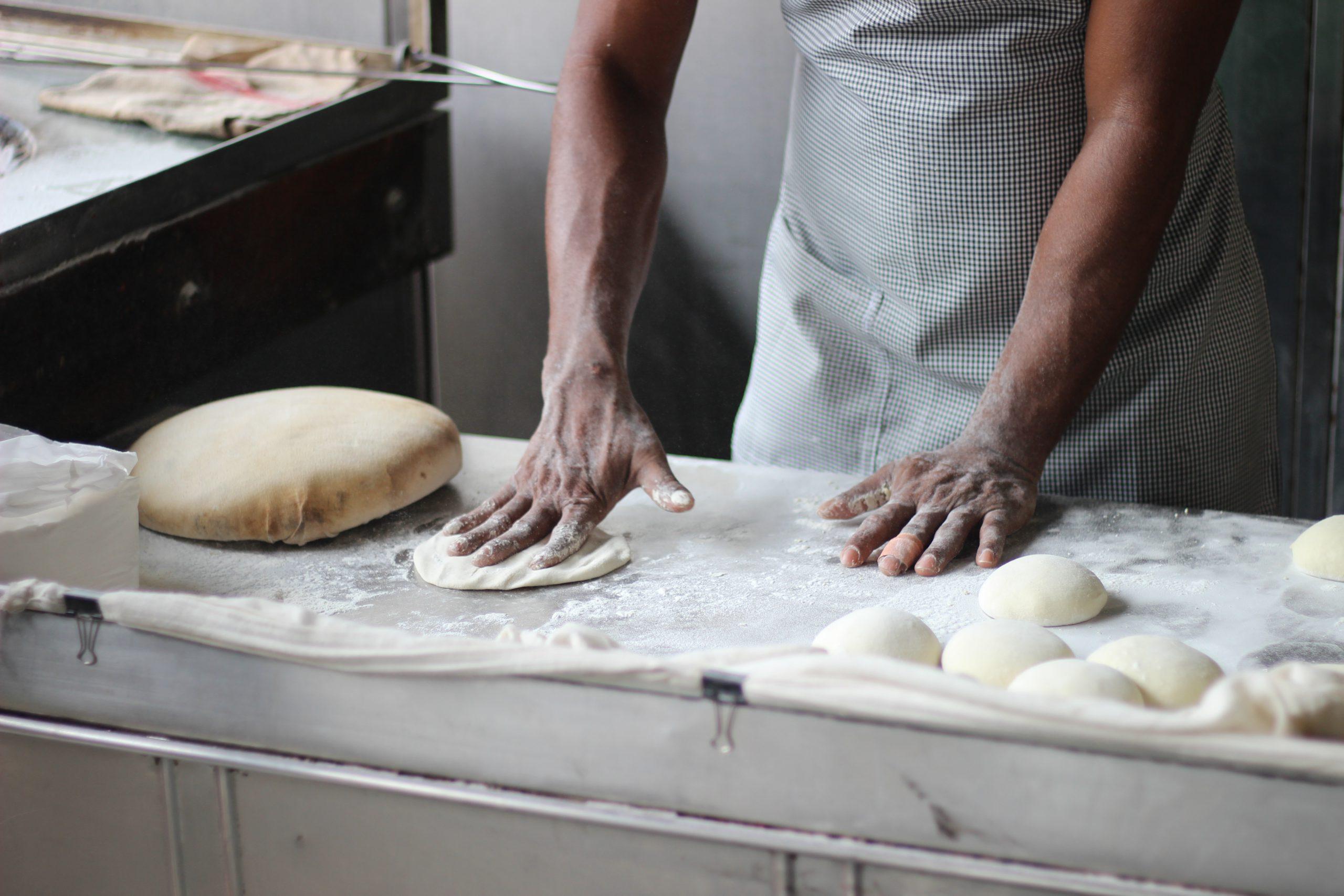 Image of Man Preparing Dough
