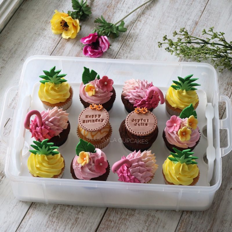 Tropical Flamingo Cupcakes
