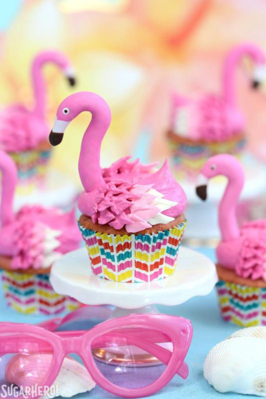 Pink Flamingo Cupcakes from Sugar Hero