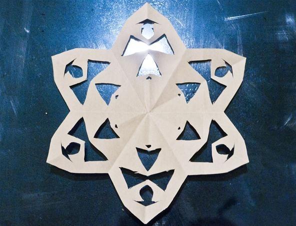 Simple Kirigami Snowflake