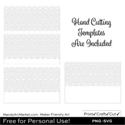 Photo of Free Paper Lantern SVG Hand Cutting Template