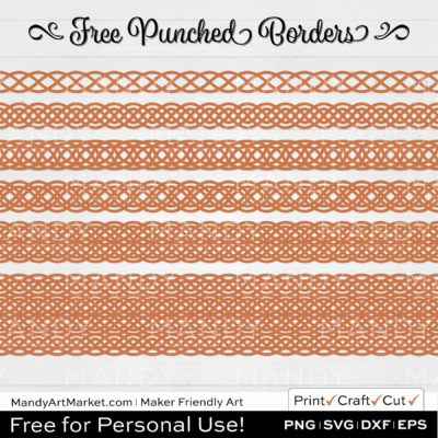 Apricot Orange Punched Border Braids Graphics on White Background