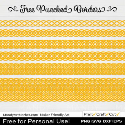 Pineapple Yellow Punched Border Braids Graphics on White Background