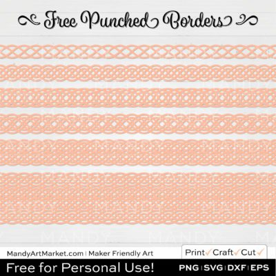 Sorbet Orange Punched Border Braids Graphics on White Background