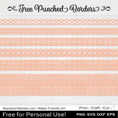 Sorbet Orange Punched Border Braids Graphics on White Background