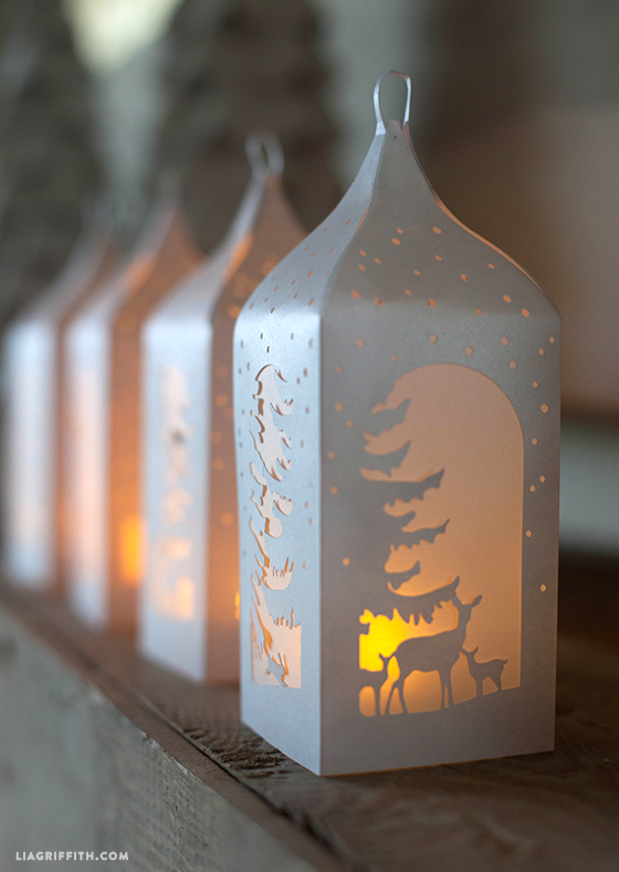 Winter Woodland Paper Lanterns