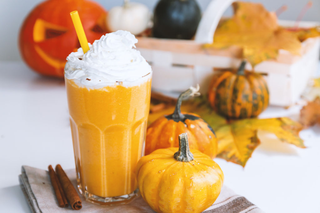 Photo of a Pumpkin Smoothie with Whipped Cream